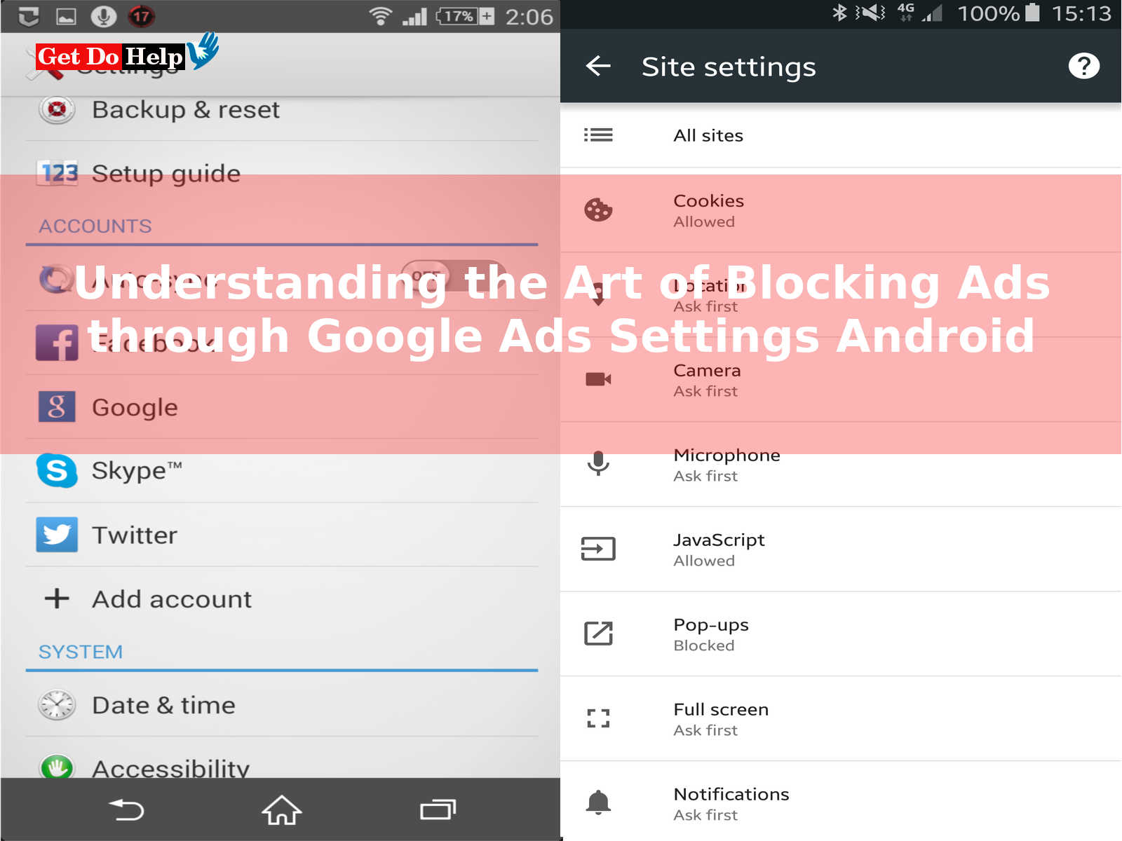 Understanding the Art of Blocking Ads through Google Ads Settings Android