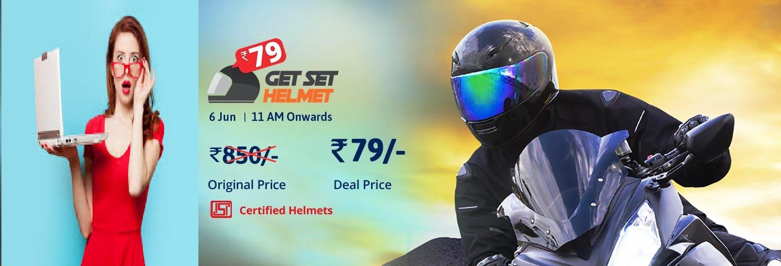 Flash Sales on Helmet, Get Set Helmet Deals   Droom