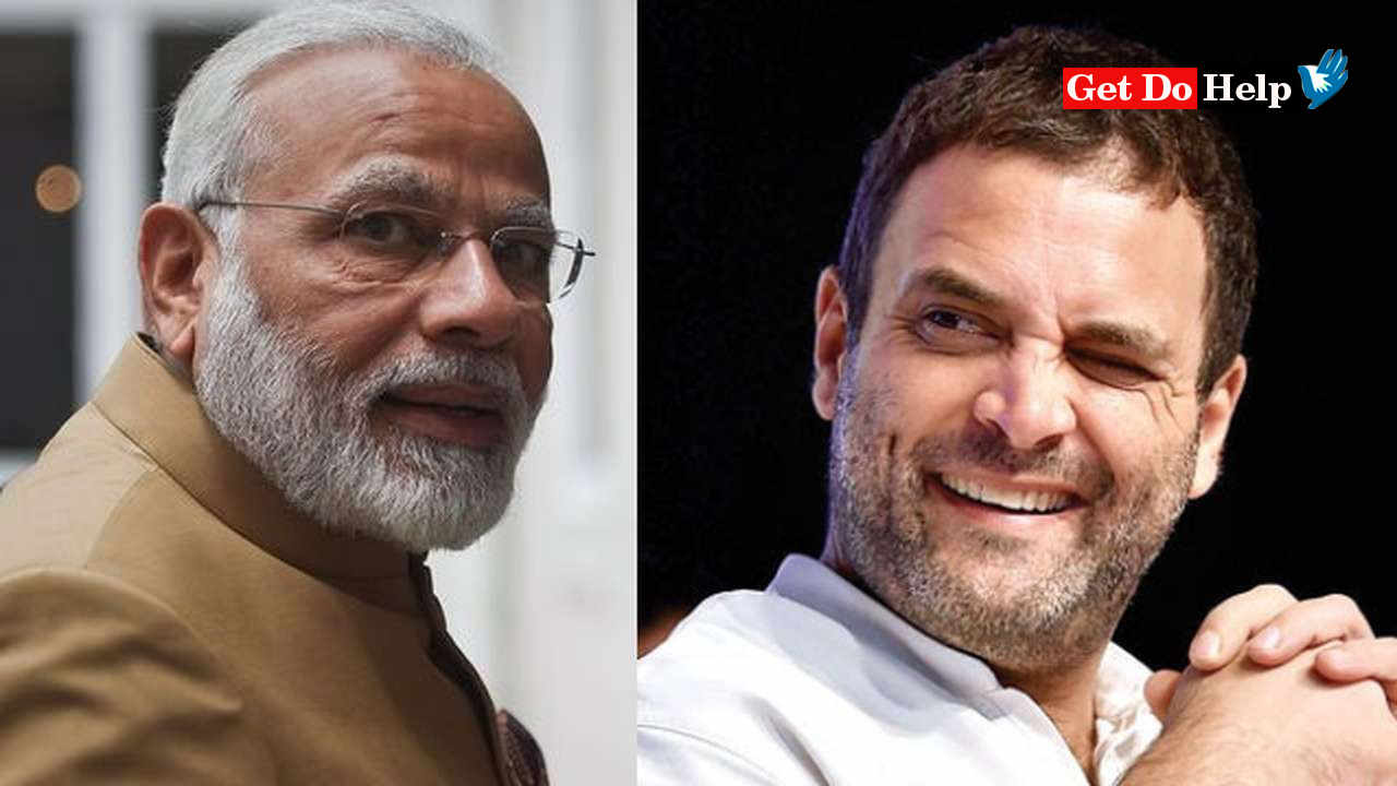 The Two Prominent Indian Leaders, Narendra Modi and Rahul Gandhi