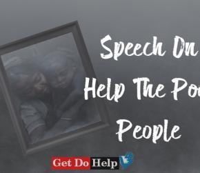 Speech On Help The Poor People