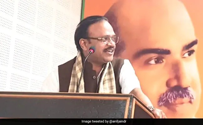 """""""BJP Committed To Issues Of Cow, Article 370 And Ram Temple"""": Anil Jain"""