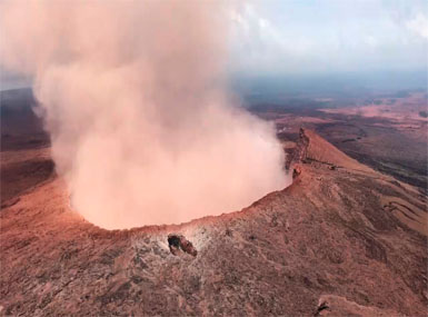 Hawaii's Kilauea volcano spews nine-km-high plume of ash; scientists warn of more eruptions in next few hours
