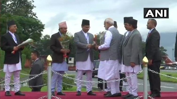 PM Narendra Modi arrives in Nepal to attend BIMSTEC Summit