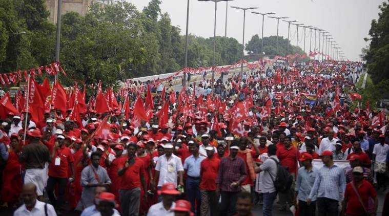 Kisan-Mazdoor Sangharsh rally LIVE Updates: Protesters demand food security, minimum wage of Rs 18k for all