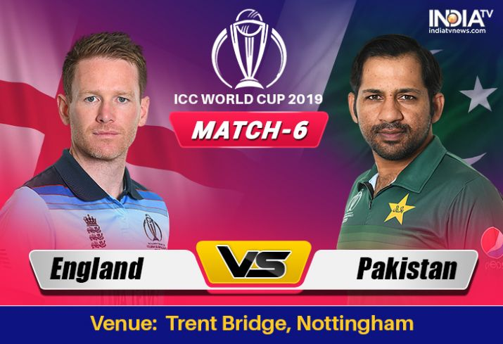 ICC World Cup 2019 - Match 6  England Vs Pakistan, Match Prediction