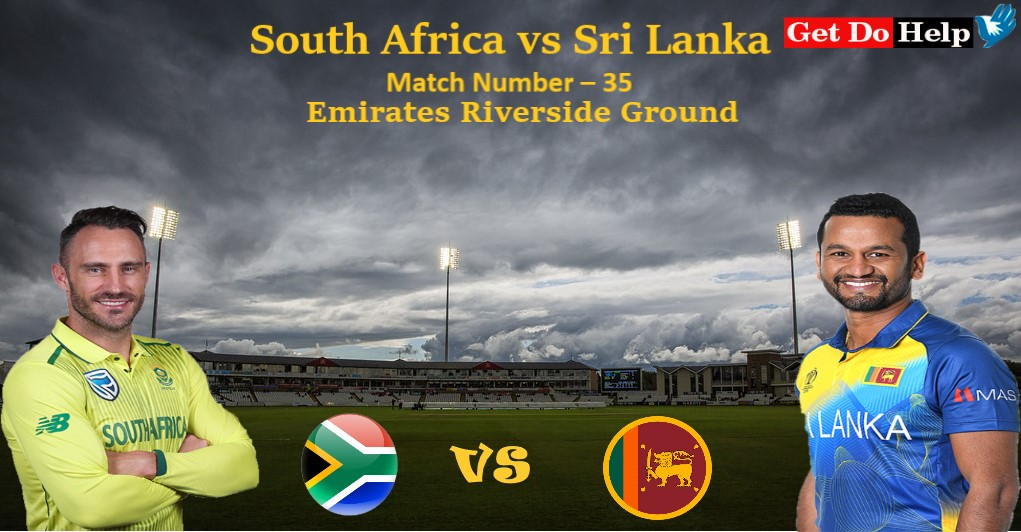 ICC World Cup 2019 - Match 35, Sri Lanka vs South Africa, Match Prediction and Tips