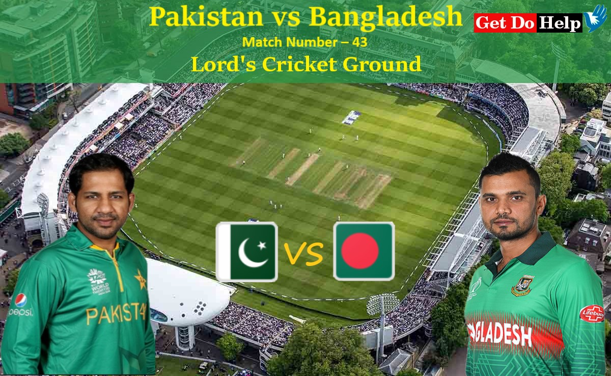 ICC World Cup 2019 - Match 43, Pakistan vs Bangladesh, Match Prediction and Tips