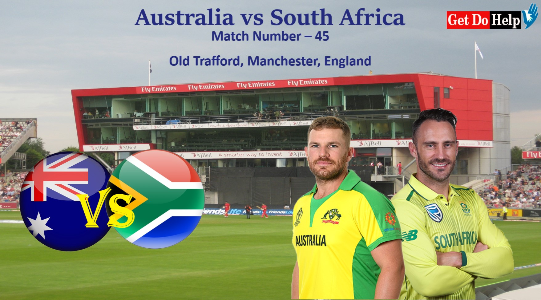 ICC World Cup 2019 - Match 45, Australia vs South Africa, Match Prediction and Tips