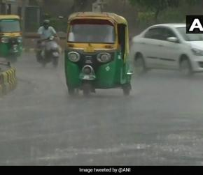 Rains In Delhi Drop Temperature In The City, Cause Water Logging