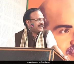 """BJP Committed To Issues Of Cow, Article 370 And Ram Temple"": Anil Jain"