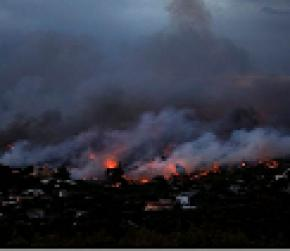Greek wildfire kills at least 20 near Athens, residents flee homes