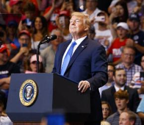 Trump trashes media as 'fake, fake disgusting news' at rally