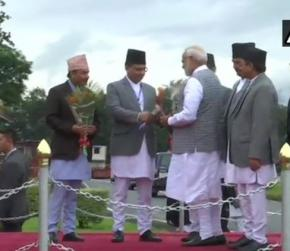 PM Narendra Modi arrives in Nepal to attend BIMSTEC Summit