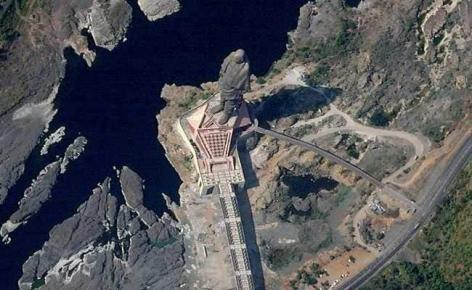 Statue Of Unity Looks Awesome from Space. See First at Get Do Help