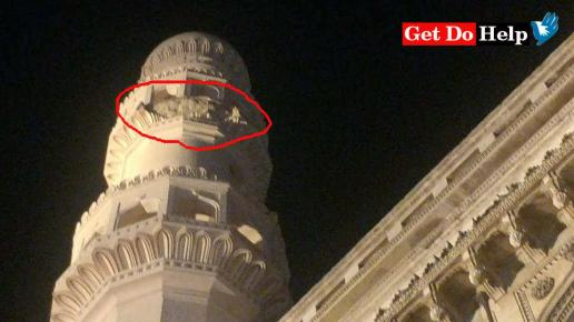 Iconic Charminar suffers damage as portion of stucco falls off