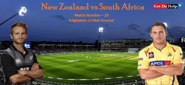 ICC World Cup 2019 - Match 25, New Zealand vs South Africa, Match Prediction and Tips
